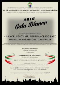 ICCI Annual Gala Dinner with his Excellency the  Italian Ambassador Pier Francesco Zazo
